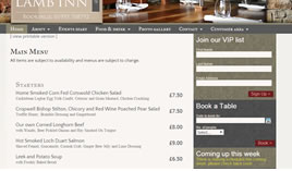 online menus allow better styling, are quicker and can be enabled for pre-ordering